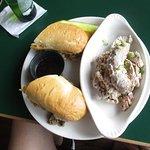 Prime Rib Dip Sandwich with Irish Potato Salad