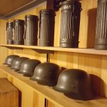 Helmets and gas mask cases