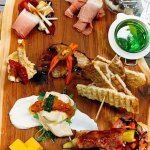 """A charcuterie board is an example of the upscale """"pub grub"""" here."""