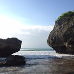 The rocks on the beach