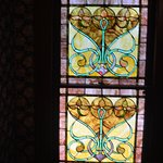 Original stained glass windows.