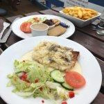 Starters - chicken liver pate and garlic mushroom bruschetta