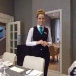 Alexandra our lovely waitress.