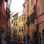 Colourful streets in Portovenere