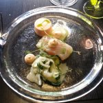 Fennel cured whitefish with bouillabaisse mayo, etc.
