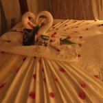 bed decorated