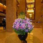 Wonderful real floral arrangement at the lobby