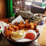 Coconut shrimp & chips w/ slaw & fountain drink yum!