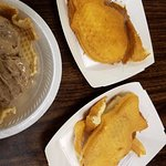 Our Taiyaki waffles and Nutella ice cream in a waffle bowl.