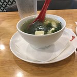 Fish, cilantro and tony soup. fresh tasting. this came with the Lunch deal.