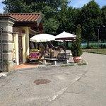 Handy cafe/bar alongside trail at Gavirate