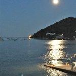 Moon rising over Dartmouth Castle