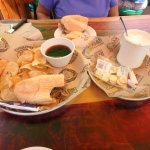 French dip with clam chowder
