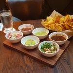 Salsa/guacamole appetizer