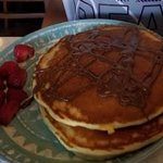 Nutella Pancakes and Fresh Strawberries