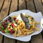 This was my Grilled Sea Bass.. Delicious :)