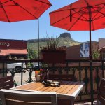 View of South Table Mountain Mesa from Cantina Patio