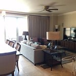 Living/dining room in 3 BR oceanview suite.