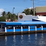 a view of Taverna Opa from the Intracoastal Waterway