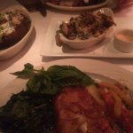 From the top: steak, brussel sprouts, sea bass & baked potato ATW