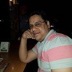 Myself in the restaurant