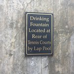 The sign about the water fountain...