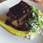Salmon with Mashed Potatoes and Carrot Puree