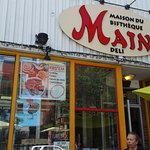 The store front of the Main Deli on St Laurent Blvd.