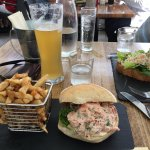 Lobster Roll, Crab Sandwich, Local Padstow Ale