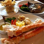 king crab legs and steak / frite
