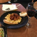 my mac and cheese and chicken and wine
