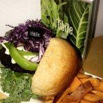 Black Bean burger, Sparta Style