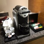 Nice in-room coffee machine