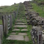 Stairway up the hill near Gilsland.