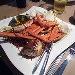 Crab Legs with Potato Puff