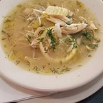 All our soups are made from scratch in house - pictured is the lemon chicken orzo