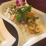 Thai shrimp: fresh shrimp and well-cook meal.