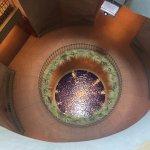 Fountain inside stairwell