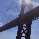 Right under the Golden Gate Bridge!