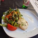 Chicken fillet with salad as main course - inedible