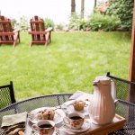 The Hidden Harbor room has a private patio area overlooking Lake Wissota