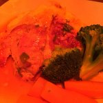 Bruschetta, carpaccio, stuffed chicken and veal