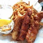 Fish and chips menu dégustation