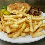 Steaks, buffalo burgers, French Dip made from prime rib, fish (cod or walleye). Dinners include