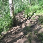 Rocky trail to Crater Lake