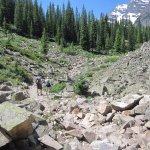 Rocky trail - almost to Crater Lake
