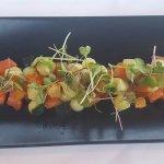 Salmon, Salmon Roe, Cucumber and Potato Balls