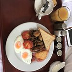 Full English delivered to room