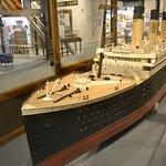 Titanic model at Maritime Museum