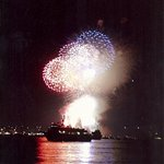 The Mijoy 747 at New London Sailfest Fireworks